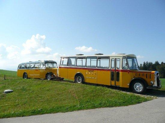 Belp, Sveits: alte Postautos