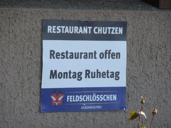 Belp, สวิตเซอร์แลนด์: Montags geschlossen