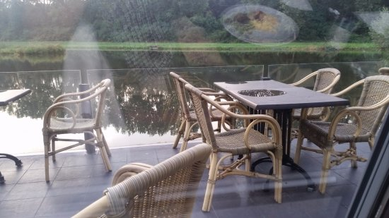 """Capelle aan den IJssel, Holland: Nice tables for a """"seaside"""" seating"""
