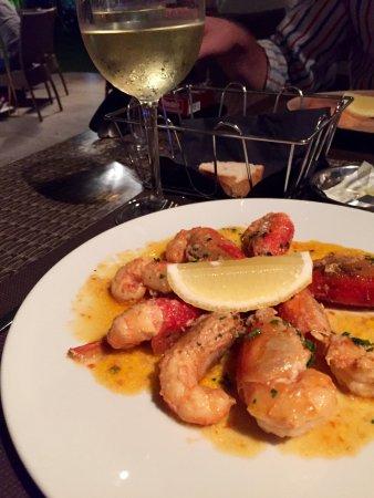 Lovely starter of cossas (local shrimp)