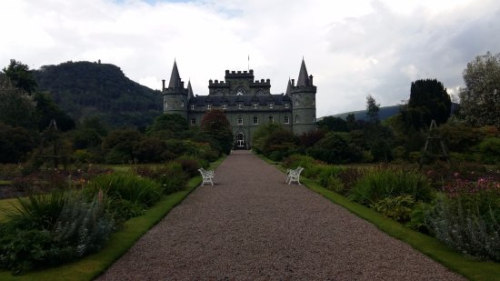 Inveraray, UK : View from the garden.
