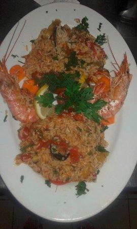 Порос, Греция: sea food rizoto