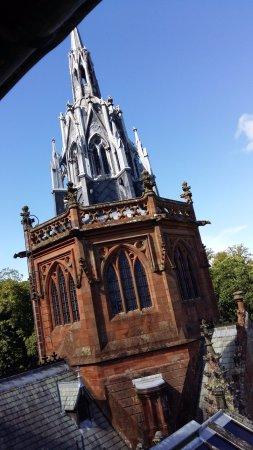 Mount Stuart: Outside of the chapel.