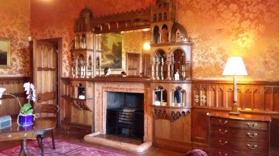 Mount Stuart: Impressive fireplace in a bedroom.