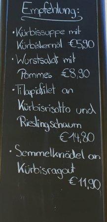 Schriesheim, Germany: Tagesgerichte - Empfehlungen