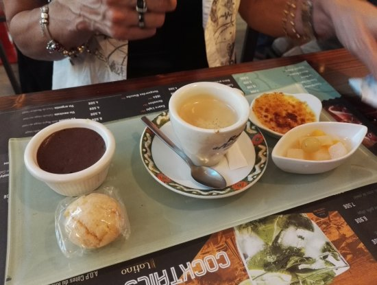 Annonay, ฝรั่งเศส: cafe gourmand