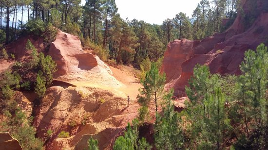 Roussillon, France : carrieres