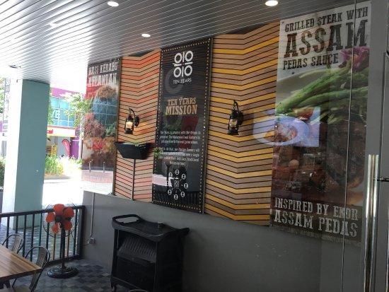 Restaurant Deco & Menu - Picture of Ten Years Restaurant, Kuala ...