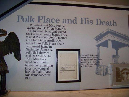 Columbia, TN: Polk's death