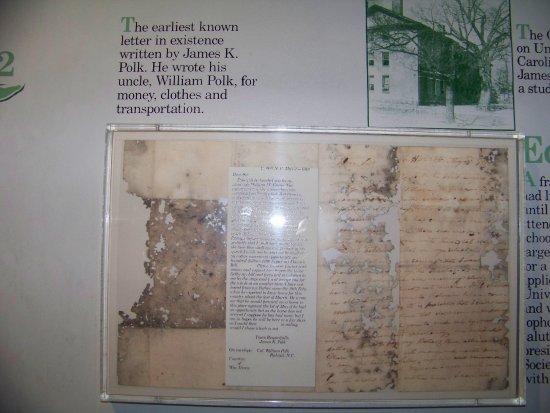 Columbia, TN: Polk letter