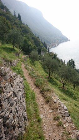 Perledo, Italien: Ösvény vissza Varennába - mi itt lefele mentünk