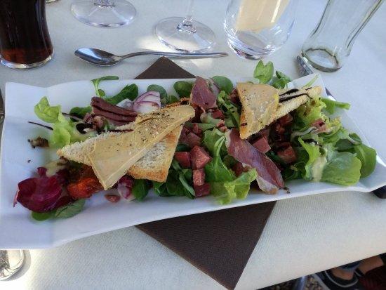 Montbrison, Франция: Assiette gourmande : gésiers, magrets de canard, foie gras, etc.