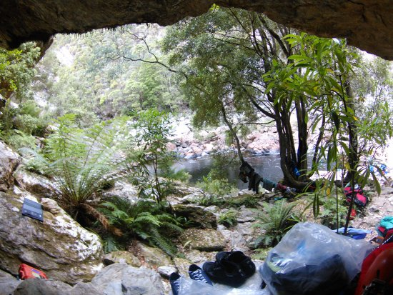 Tasmania, Australia: Romantic cave for two - a.k.a 'Date Night' - included Glow Worm mood lighting - Churn Camp