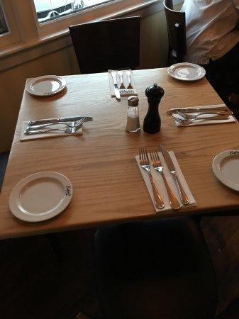 Sag Harbor, NY: simple table sets