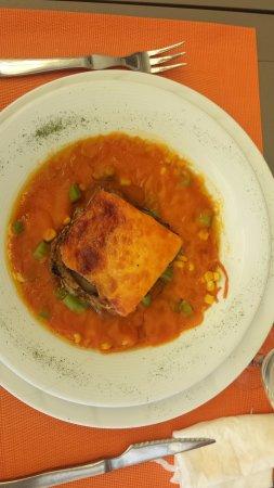 La Antilla, España: lasaña vegetal