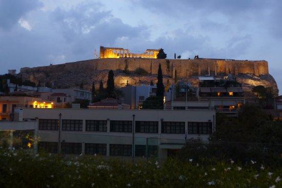 Herodion Hotel: Aussicht vom Restaurant auf dem Dach