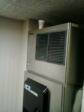 Drury Inn & Suites Birmingham Lakeshore Drive: Ice machine with trash on it.