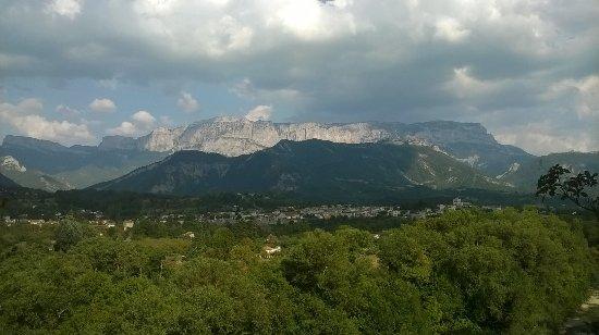Het dorp Die met de mooie omgeving.