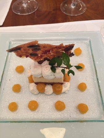 Sugiez, สวิตเซอร์แลนด์: Magnifique cheesecake à la courge. Une vraie découverte
