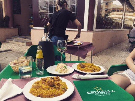 San Javier, Spanien: Great Food & Service