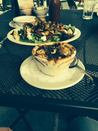 The Lakeview House : Lake house salad and French onion soup