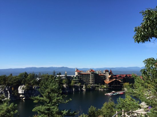 Mohonk Mountain House: Taken from the top of the Mountain from the Tower.