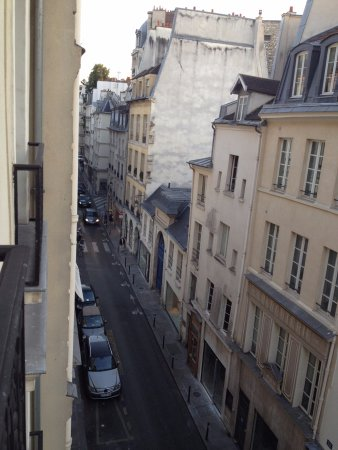 Hotel Prince de Conde: View from the 4th floor down the Rue de Seine