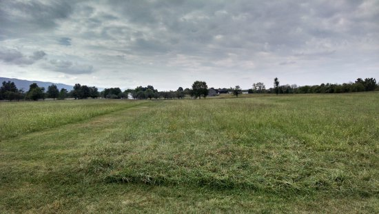New Market, Wirginia: The view from a union artillery position back towards Breckinridge's lines.