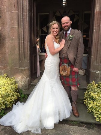 Alyth, UK: The very happy couple.