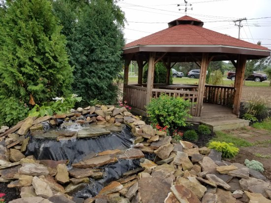 Lewiston, NY: Gazebo and Waterfall