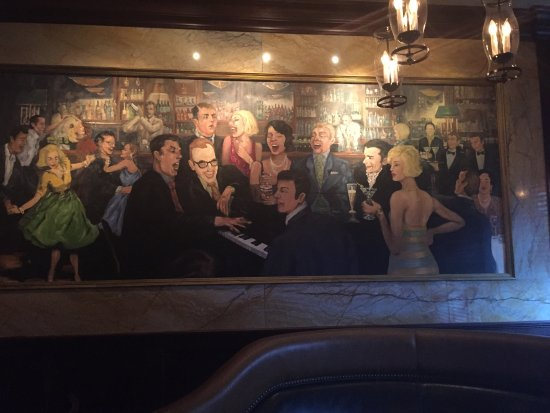 Morristown, Nueva Jersey: Mural by the bar
