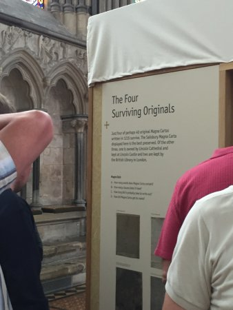 Salisbury Cathedral: The Magna Carta exhibit--no photos allowed