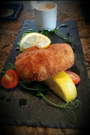 Birchington, UK: Cod fishcake with sriracha mayonnaise