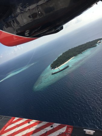 Filitheyo Island Resort: Island from the air