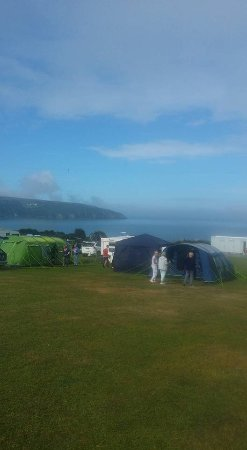 Cardigan, UK: Camping with a view!