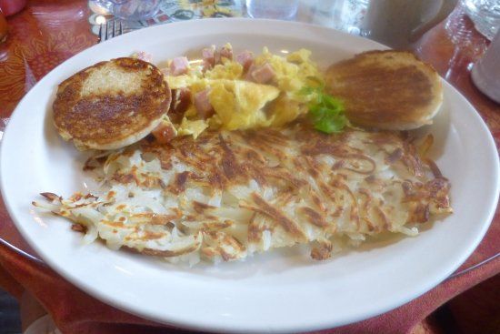 the pancake house and christmas shop diced ham and eggs
