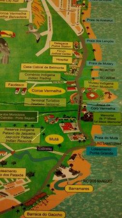 Santa Cruz Cabralia, BA: Mapa para chegar em Coroa Vermelha