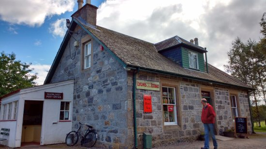 Newtonmore, UK: The Kirk's Store (Sweet Shop) and Glenlivet Post Office at the Highland Folk Museum