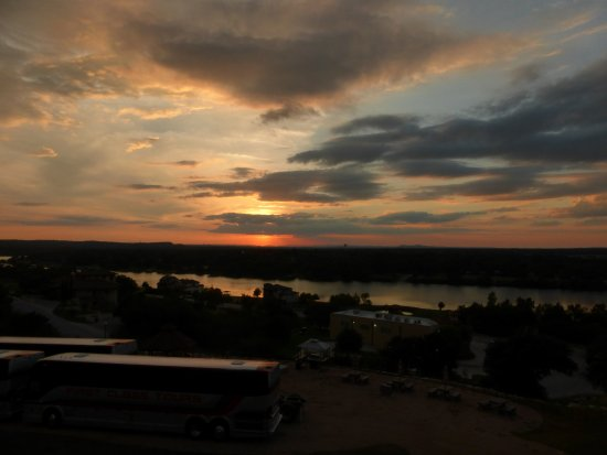 Marble Falls, TX: Sunset across the Colorado River