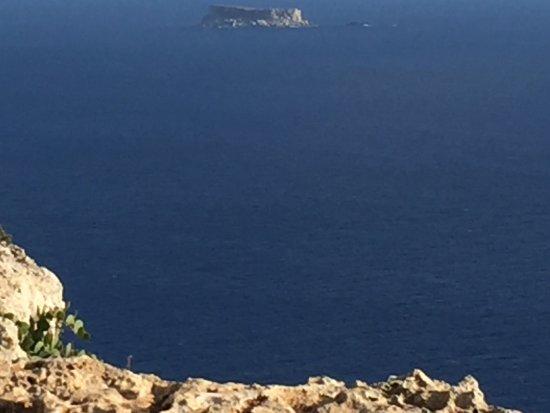 Uitzicht van Dingli Cliffs richting Filfla