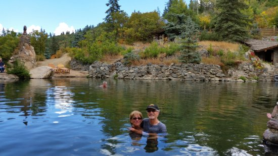 Strawberry Park Hot Springs: In a pool at Straweberry Park Hot Springs in Steanboat Springs, CO