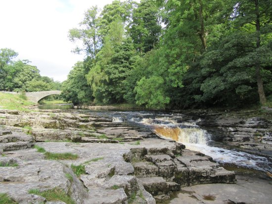 Settle, UK: The Falls with the Packhorse Bridge in the background