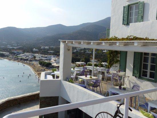 Platis Yialos, Griekenland: breakfast porch
