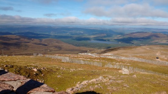 Aviemore, UK: A view from the Top Station of the Cairngorm Funicular Railway