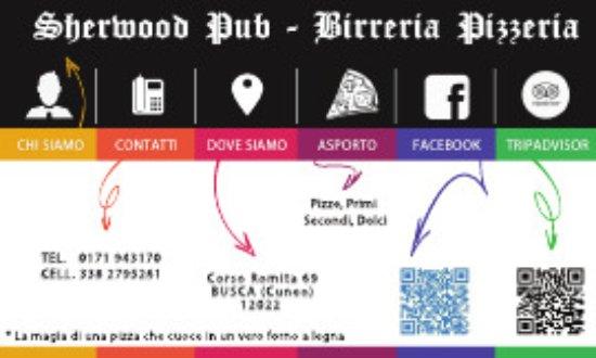 Busca, Italia: retro biglietto