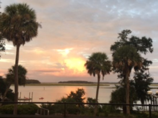 Montage Palmetto Bluff: View from Canoe Club for dinner