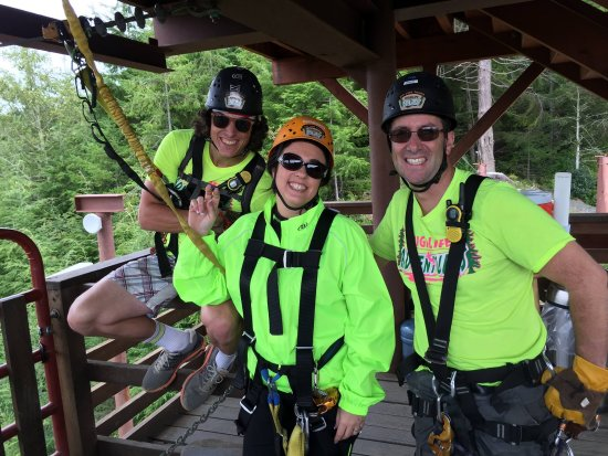 Warrenton, OR: Getting ready for the EXTREME ZIP SWING...
