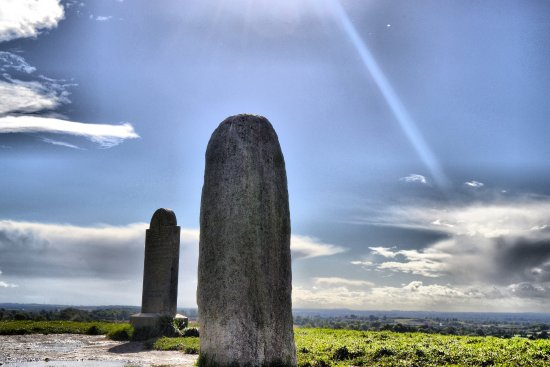 Navan, Irland: View south from Lia Fáil, Stone of Destiny