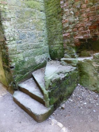 Carlow, Irlande : A ruined staircase