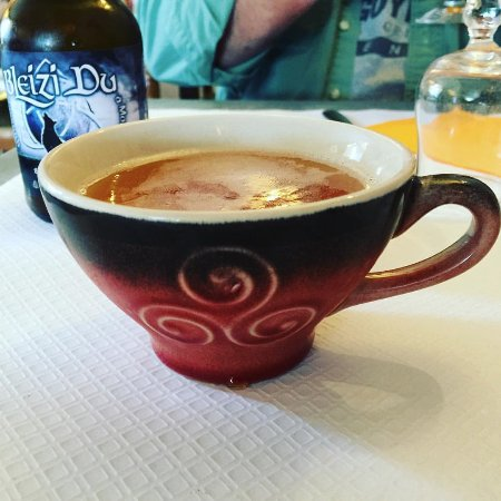 Pleyber Christ, France: Cup of cider (delicious)